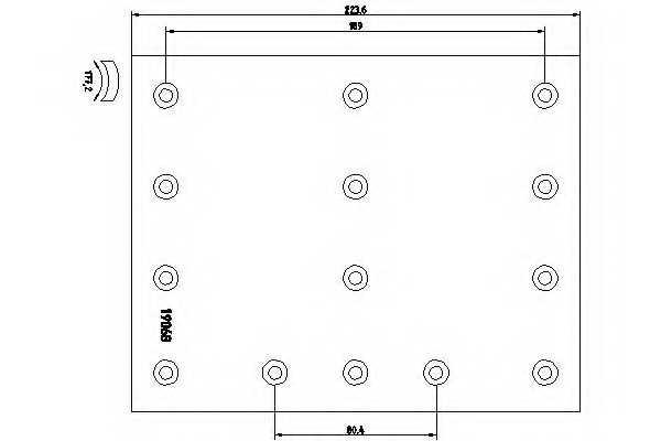 Комплект тормозных башмаков барабанного тормоза для VOLVO B 7, F 12, F 16, FH 12, FH 16, FM 10, FM 12, FM 7, NH 12 <b>TEXTAR 1906805</b> - изображение