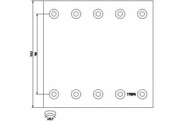 Комплект тормозных башмаков барабанного тормоза <b>TEXTAR 1909440</b> - изображение