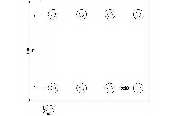Комплект тормозных башмаков барабанного тормоза TEXTAR 1928309 - изображение