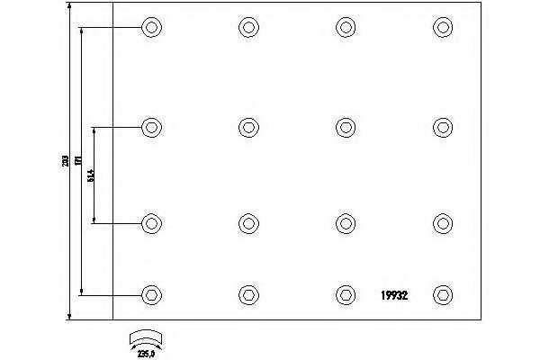 Комплект тормозных башмаков барабанного тормоза <b>TEXTAR 1993201</b> - изображение