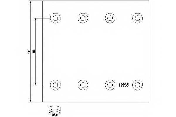 Комплект тормозных башмаков барабанного тормоза TEXTAR 1993502 - изображение