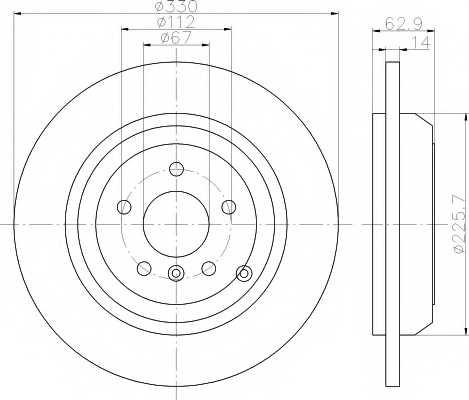 Тормозной диск TEXTAR 98200 1508 / 92150803 - изображение
