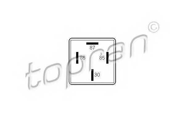 Реле рабочего тока TOPRAN 102 409 - изображение