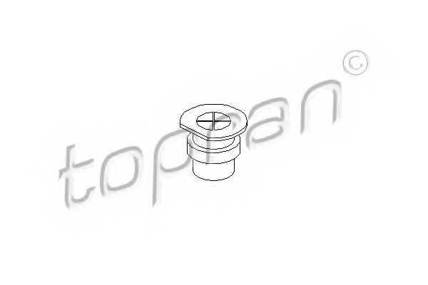 Пробка, фланец охлаждающей жидкости TOPRAN 107 135 - изображение 1