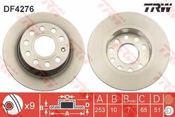 Тормозной диск TRW DF4276 - изображение