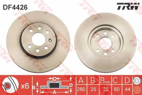 Тормозной диск TRW DF4426 - изображение