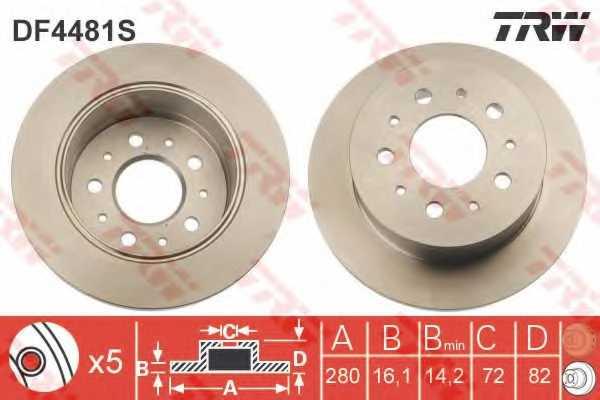 Тормозной диск TRW DF4481S - изображение