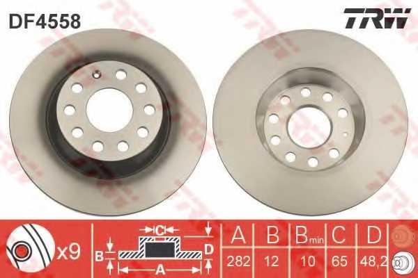Тормозной диск TRW DF4558 - изображение