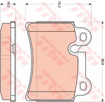 Колодки тормозные дисковые для VW TOUAREG(7L6,7L7,7LA) <b>TRW GDB1722</b> - изображение