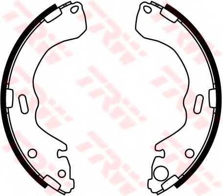 Комплект тормозных колодок TRW GS8664 - изображение