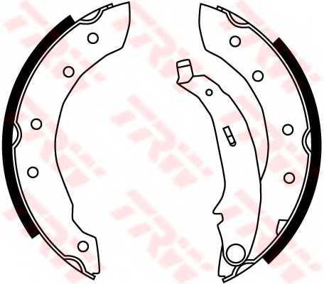 Комплект тормозных колодок для CITROEN SAXO, XSARA, ZX / LIFAN 520 / PEUGEOT 106, 206, 306 / RENAULT CLIO, LAGUNA, LOGAN, THALIA, TWINGO <b>TRW GS8729</b> - изображение