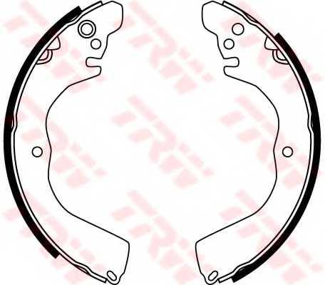 Комплект колодок стояночной тормозной системы TRW GS8762 - изображение