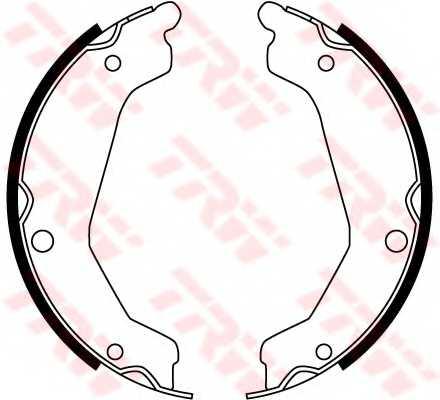 Комплект колодок стояночной тормозной системы TRW GS8763 - изображение