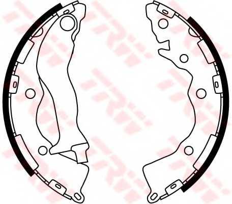 Комплект тормозных колодок TRW GS8766 - изображение