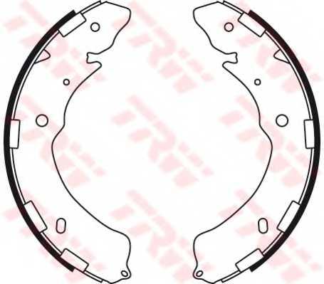 Комплект тормозных колодок для ISUZU D-MAX / MITSUBISHI L 200, PAJERO / SUBARU LEGACY, OUTBACK <b>TRW GS8768</b> - изображение