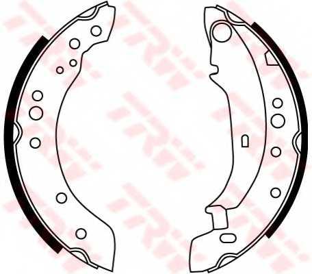 Комплект тормозных колодок для RENAULT CLIO(BB0/1/2#,CB0/1/2#), TWINGO(CN0#) <b>TRW GS8771</b> - изображение