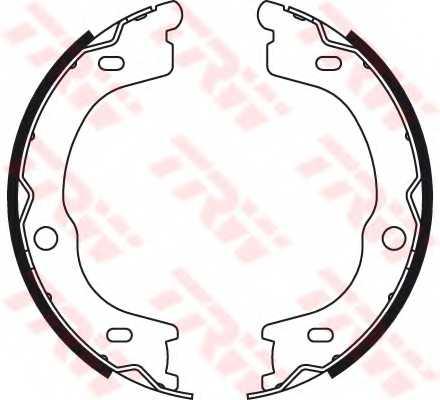 Комплект колодок стояночной тормозной системы TRW GS8784 - изображение