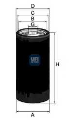Фильтр масляный UFI 23.144.00 - изображение
