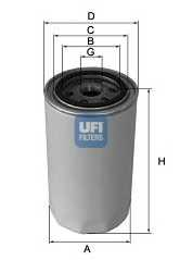 Фильтр масляный UFI 23.186.01 - изображение
