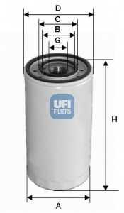 Фильтр масляный UFI 23.475.00 - изображение