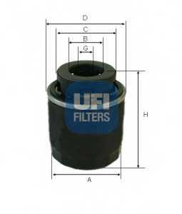 Фильтр масляный UFI 23.494.00 - изображение