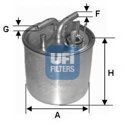 Фильтр топливный UFI 24.002.00 - изображение