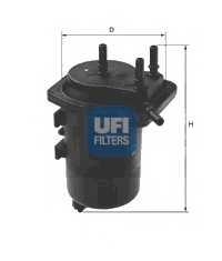 Фильтр топливный UFI 24.013.00 - изображение