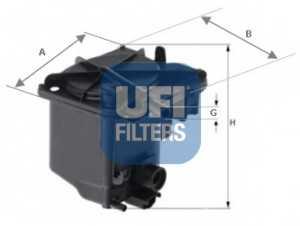 Фильтр топливный UFI 24.027.00 - изображение