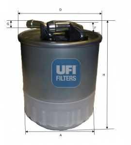 Фильтр топливный UFI 24.107.00 - изображение