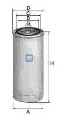 Фильтр топливный UFI 24.323.00 - изображение