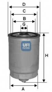 Фильтр топливный UFI 24.350.00 - изображение