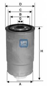 Фильтр топливный UFI 24.351.00 - изображение