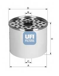 Фильтр топливный UFI 24.360.00 - изображение
