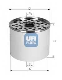 Фильтр топливный UFI 24.361.00 - изображение