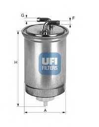 Фильтр топливный UFI 24.365.00 - изображение