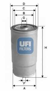 Фильтр топливный UFI 24.379.00 - изображение