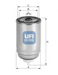 Фильтр топливный UFI 24.408.00 - изображение