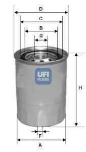 Фильтр топливный UFI 24.423.00 - изображение