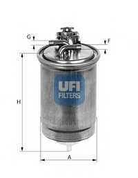Фильтр топливный UFI 24.424.00 - изображение
