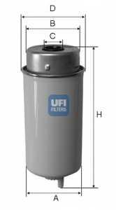 Фильтр топливный UFI 24.432.00 - изображение