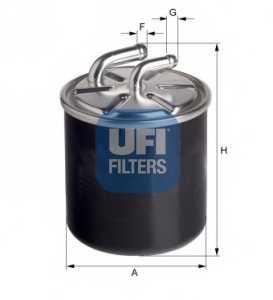 Фильтр топливный UFI 24.436.00 - изображение