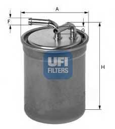 Фильтр топливный UFI 24.437.00 - изображение