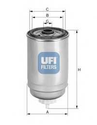 Фильтр топливный UFI 24.444.00 - изображение