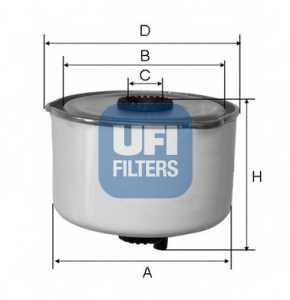 Фильтр топливный UFI 24.454.00 - изображение