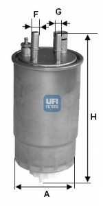 Фильтр топливный UFI 24.ONE.00 - изображение