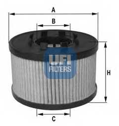 Фильтр масляный UFI 25.015.00 - изображение