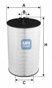 Фильтр масляный UFI 25.019.00 - изображение