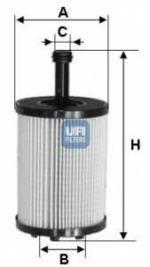 Фильтр масляный UFI 25.023.00 - изображение