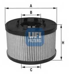 Фильтр масляный UFI 25.033.00 - изображение