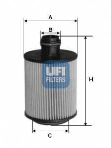Фильтр масляный UFI 25.061.00 - изображение
